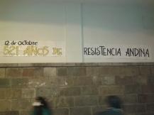 Pancarta en la Universidad de Cuzco (Perú)